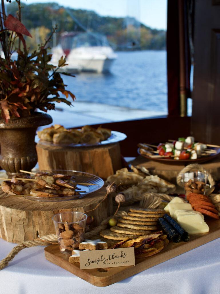Catering on Saratoga Lake with Adirondack Cruises